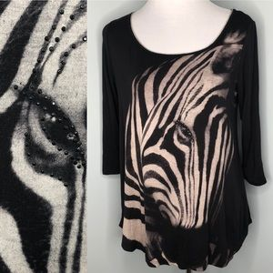 Stretchy Zebra 🦓 Print Tunic